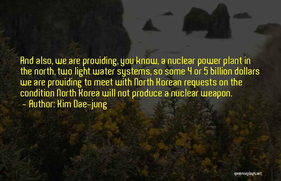 Nuclear Weapon Quotes By Kim Dae-jung