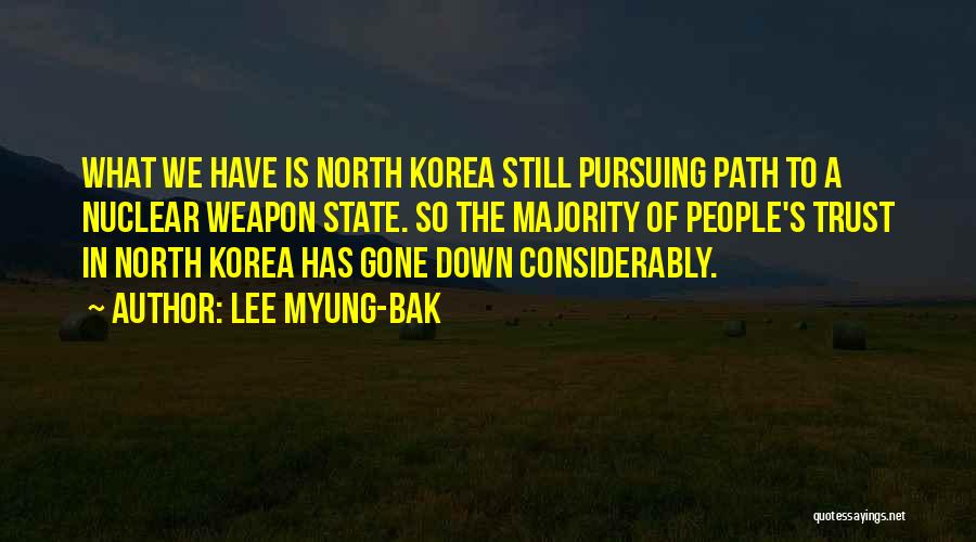 Nuclear Weapon Quotes By Lee Myung-bak