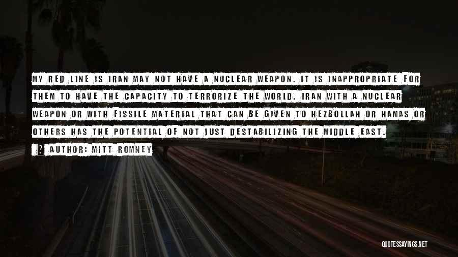 Nuclear Weapon Quotes By Mitt Romney