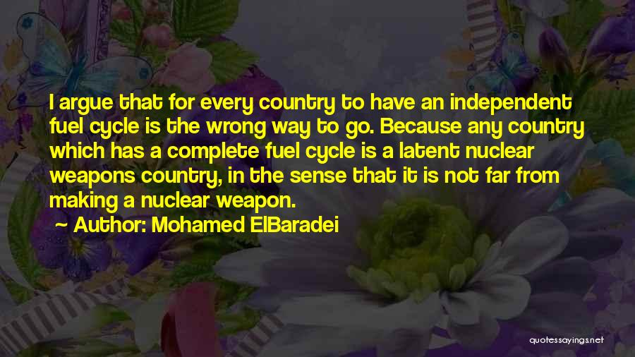 Nuclear Weapon Quotes By Mohamed ElBaradei