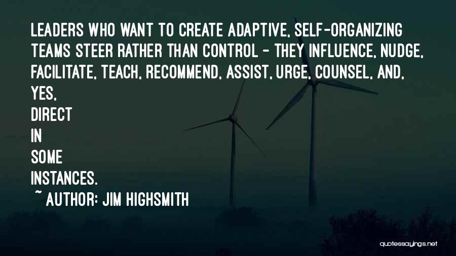 Nudge Quotes By Jim Highsmith