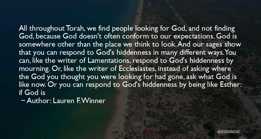 Nudge Quotes By Lauren F. Winner