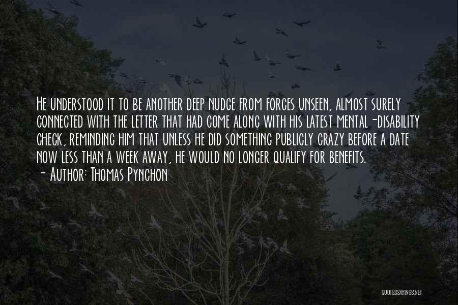 Nudge Quotes By Thomas Pynchon