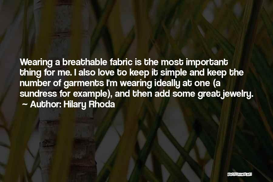 Number 1 Love Quotes By Hilary Rhoda