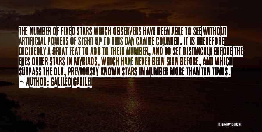 Number The Stars Quotes By Galileo Galilei