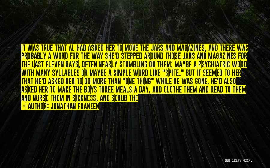 Nurse Scrub Quotes By Jonathan Franzen