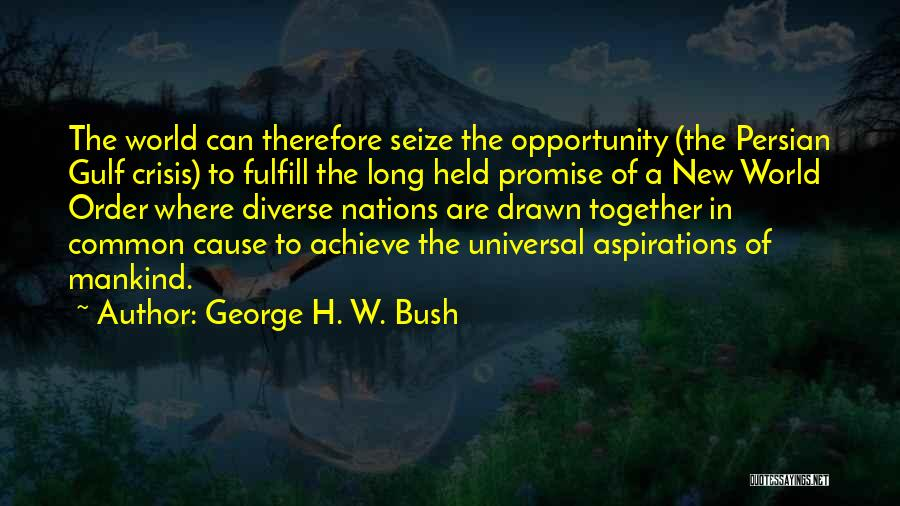 Nwo Order Quotes By George H. W. Bush