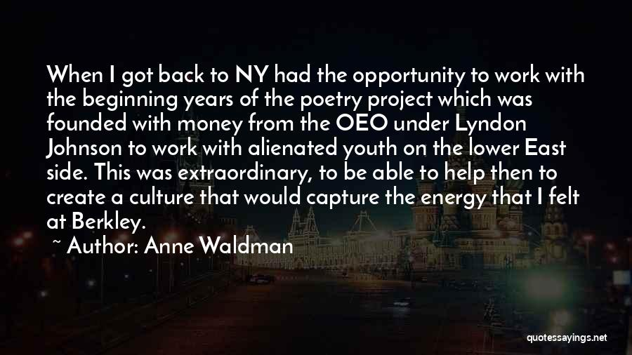 Ny Quotes By Anne Waldman