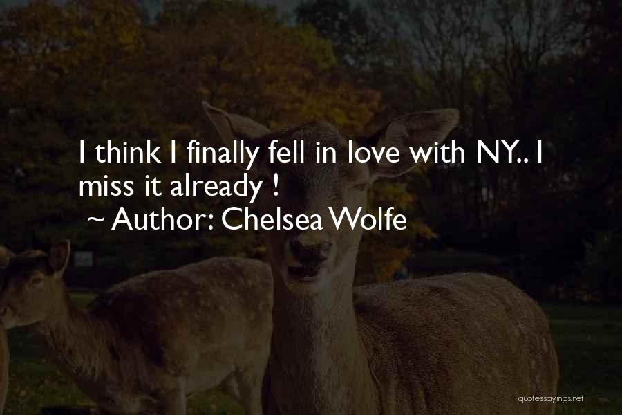 Ny Quotes By Chelsea Wolfe