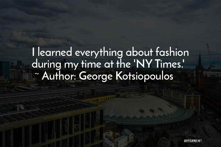 Ny Quotes By George Kotsiopoulos