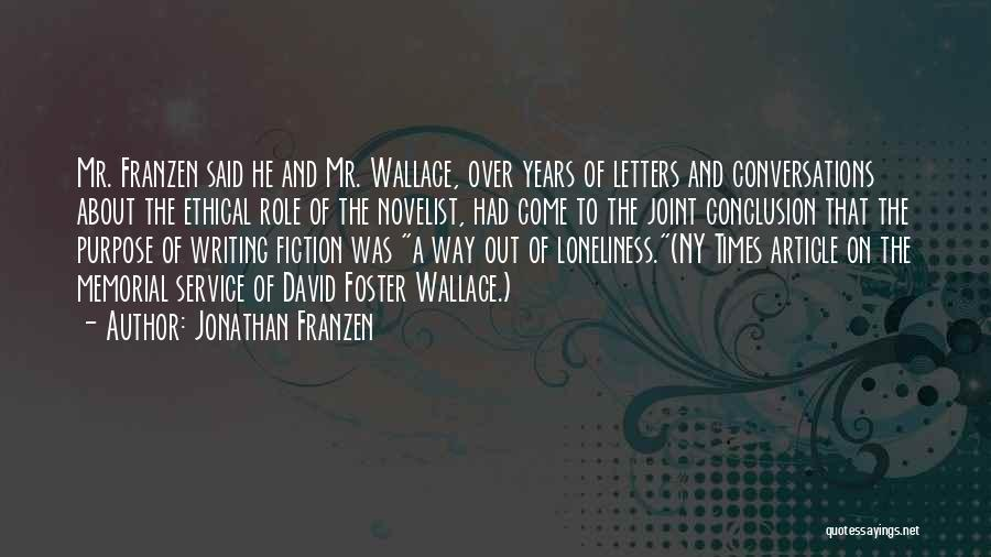 Ny Quotes By Jonathan Franzen