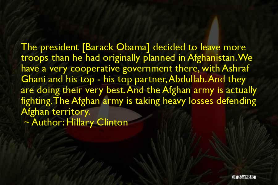 Obama Afghanistan Quotes By Hillary Clinton