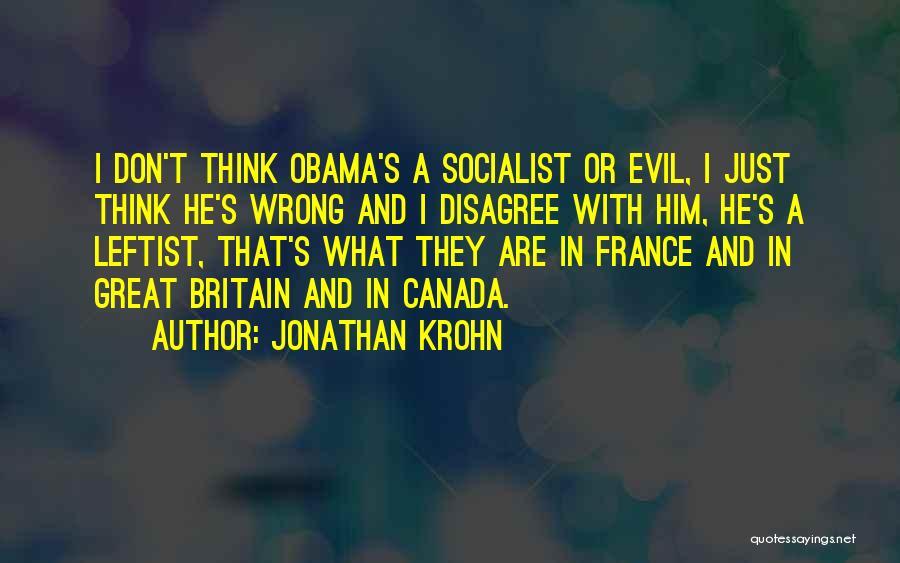 Obama Quotes By Jonathan Krohn