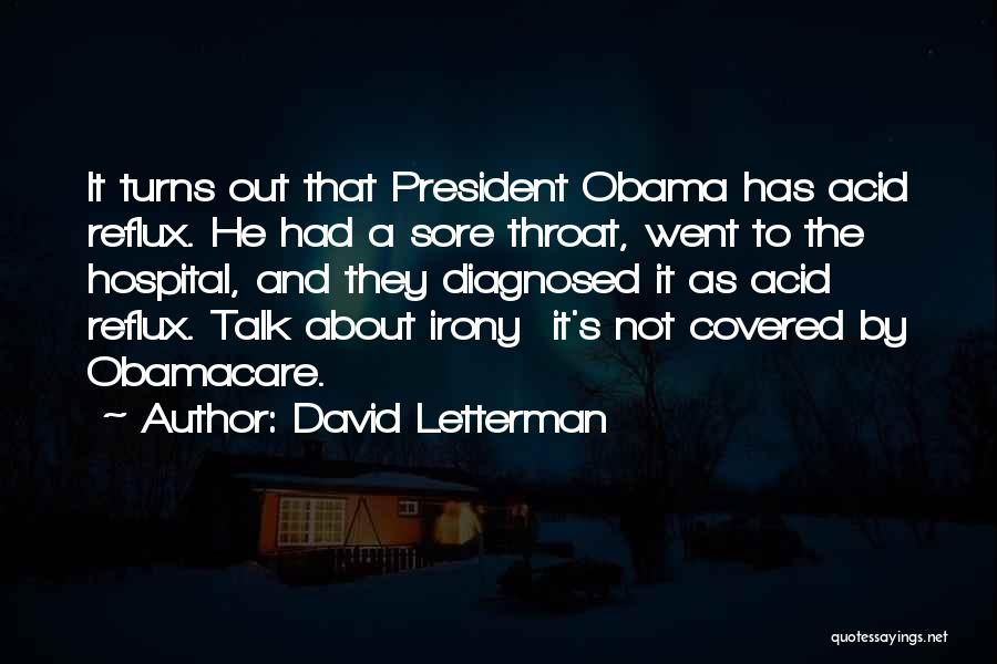 Obamacare Quotes By David Letterman