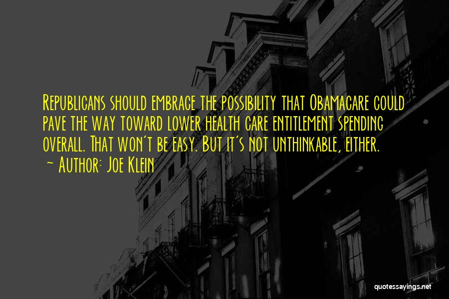 Obamacare Quotes By Joe Klein
