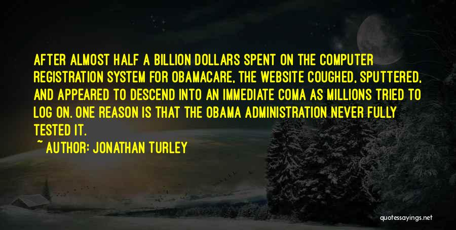 Obamacare Quotes By Jonathan Turley