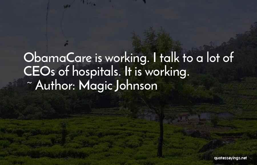 Obamacare Quotes By Magic Johnson