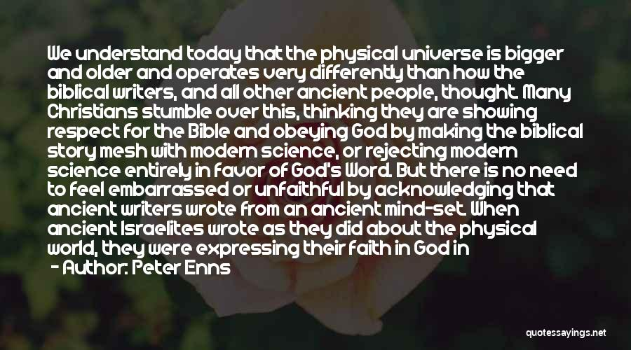 Obeying The Bible Quotes By Peter Enns