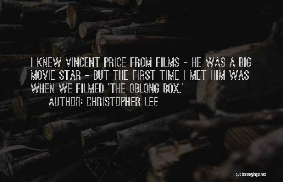 Oblong Quotes By Christopher Lee