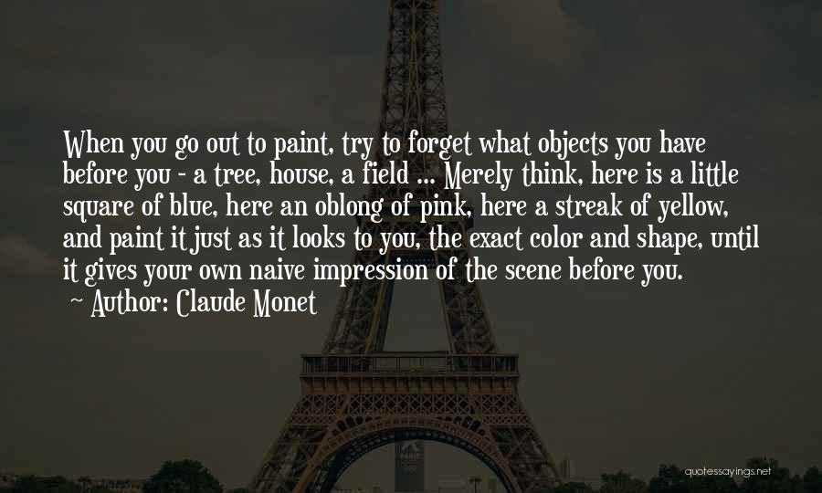 Oblong Quotes By Claude Monet