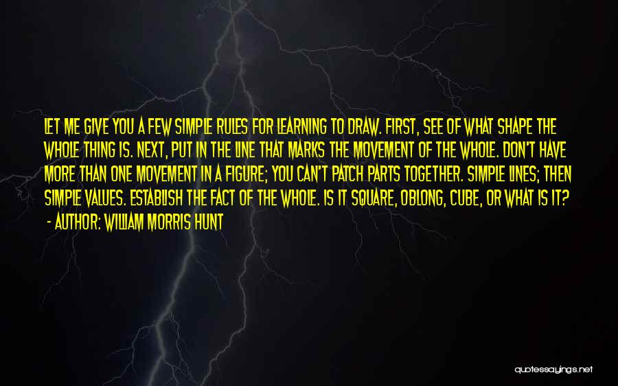 Oblong Quotes By William Morris Hunt