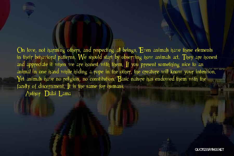 Observing Love Quotes By Dalai Lama