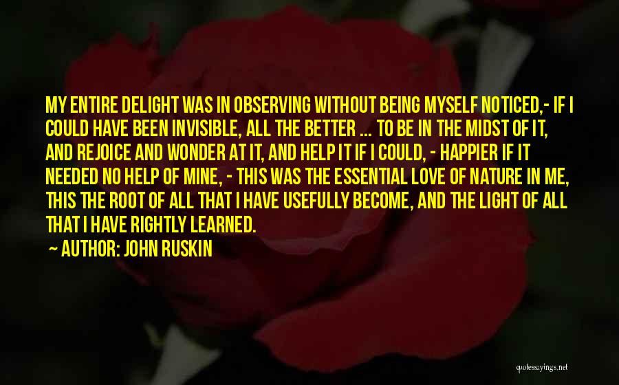 Observing Love Quotes By John Ruskin