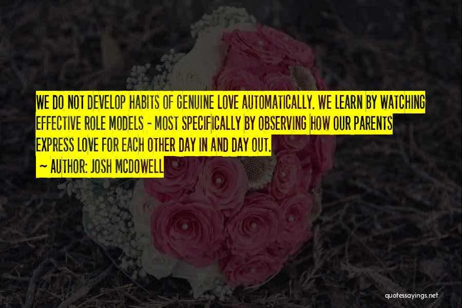 Observing Love Quotes By Josh McDowell