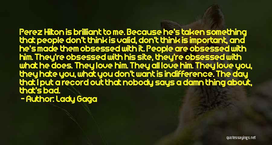Obsessed Love Quotes By Lady Gaga