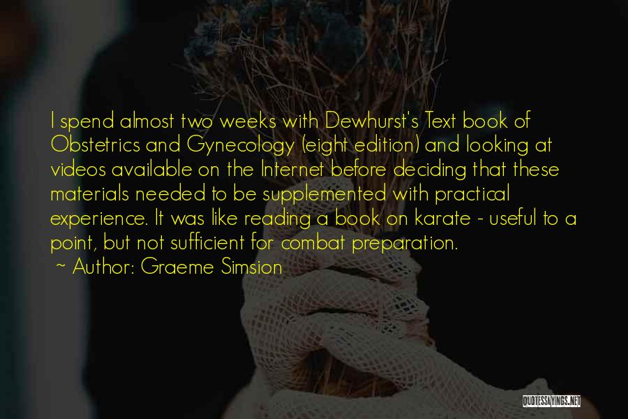 Obstetrics Quotes By Graeme Simsion