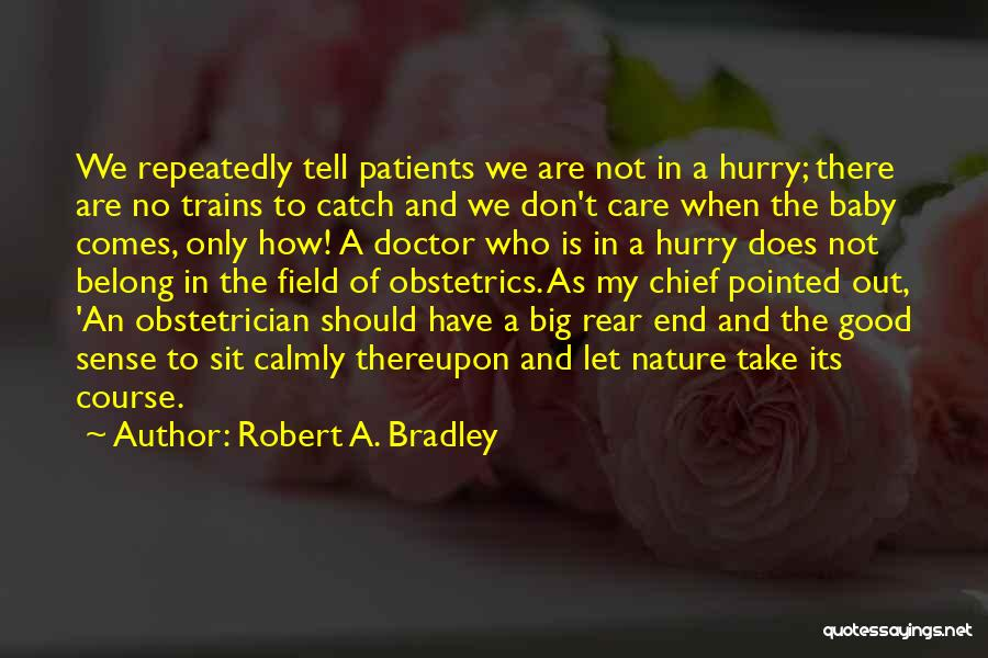 Obstetrics Quotes By Robert A. Bradley