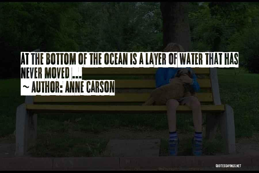 Ocean Water Quotes By Anne Carson