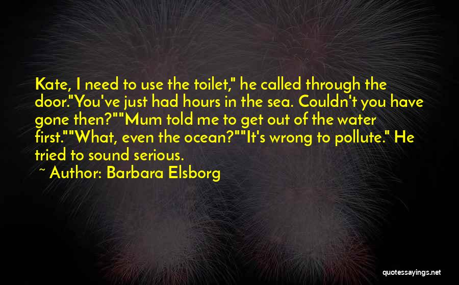 Ocean Water Quotes By Barbara Elsborg