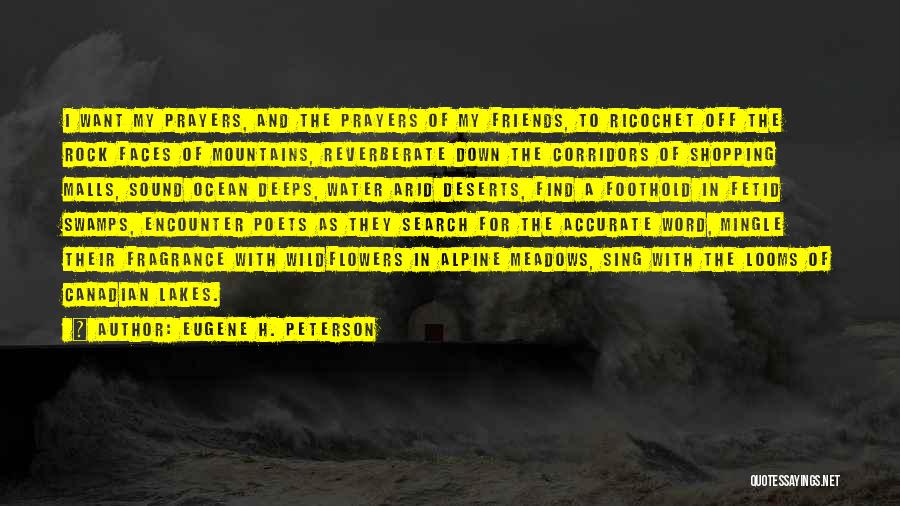 Ocean Water Quotes By Eugene H. Peterson