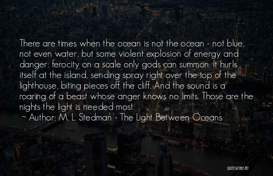 Ocean Water Quotes By M. L. Stedman - The Light Between Oceans