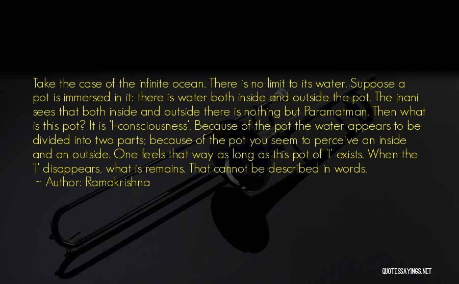 Ocean Water Quotes By Ramakrishna