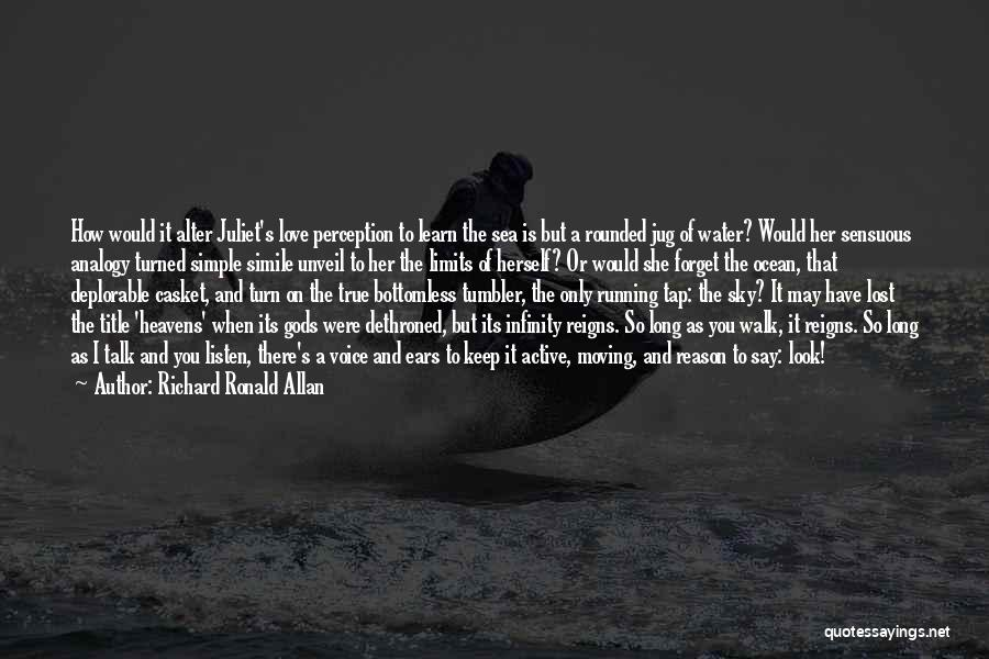 Ocean Water Quotes By Richard Ronald Allan