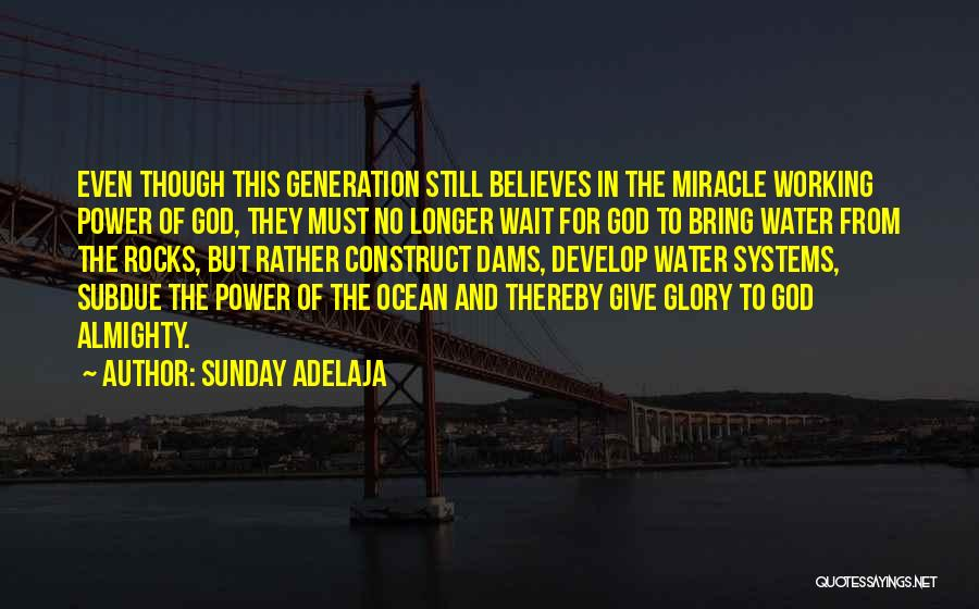 Ocean Water Quotes By Sunday Adelaja