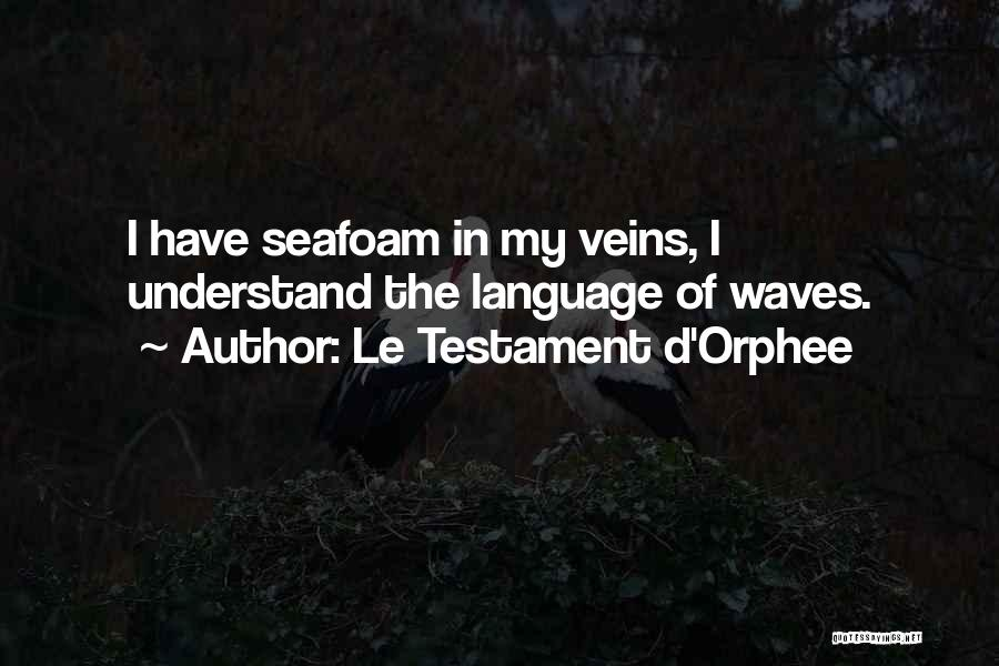 Ocean Waves Quotes By Le Testament D'Orphee