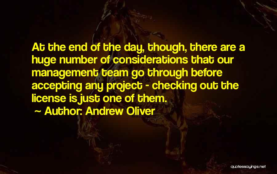 Of The Day Quotes By Andrew Oliver