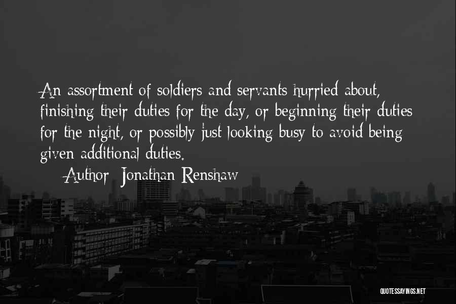 Of The Day Quotes By Jonathan Renshaw