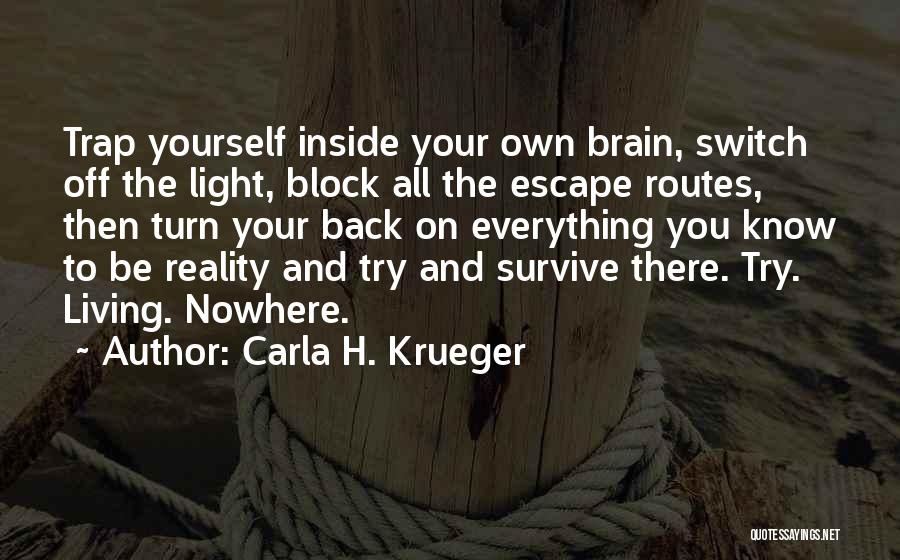 Off To Nowhere Quotes By Carla H. Krueger