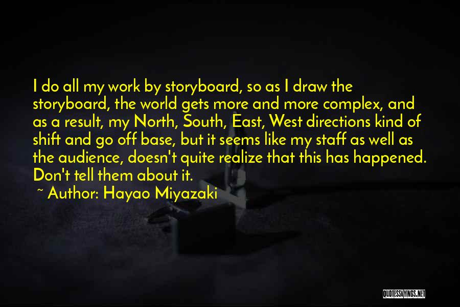 Off Work Quotes By Hayao Miyazaki