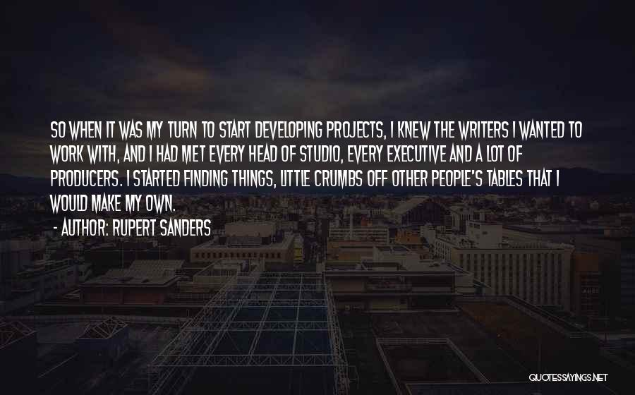 Off Work Quotes By Rupert Sanders