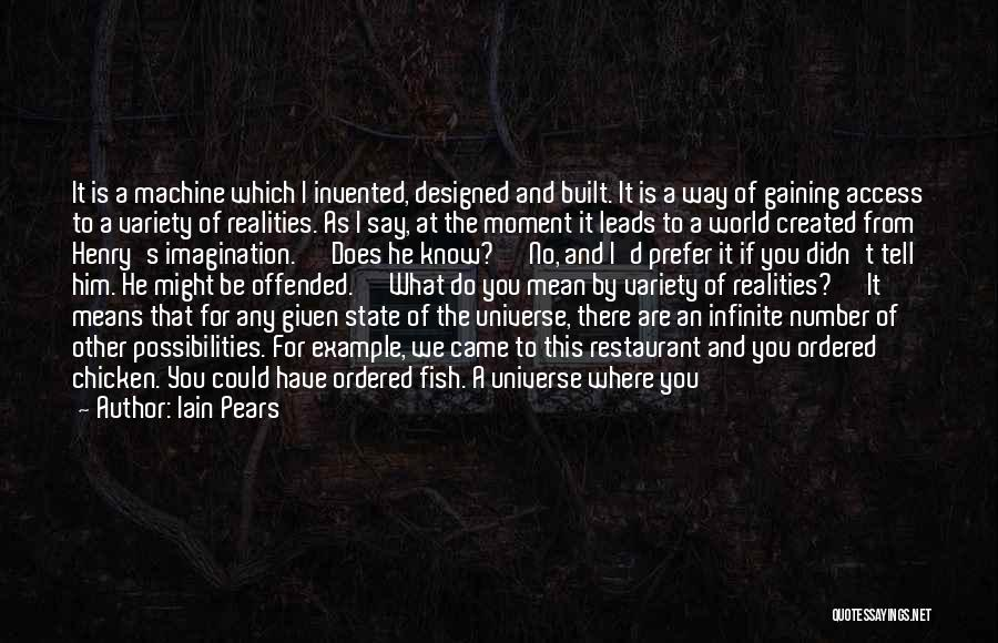 Offended Quotes By Iain Pears