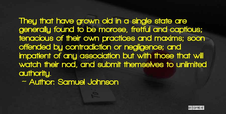 Offended Quotes By Samuel Johnson