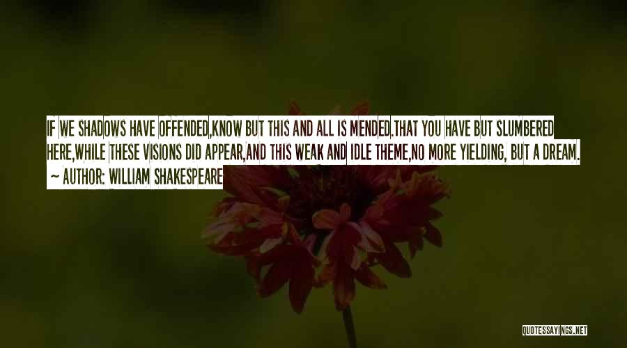 Offended Quotes By William Shakespeare