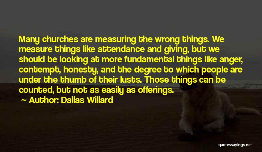 Offerings Quotes By Dallas Willard