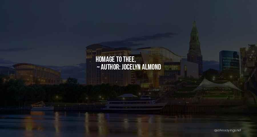 Offerings Quotes By Jocelyn Almond
