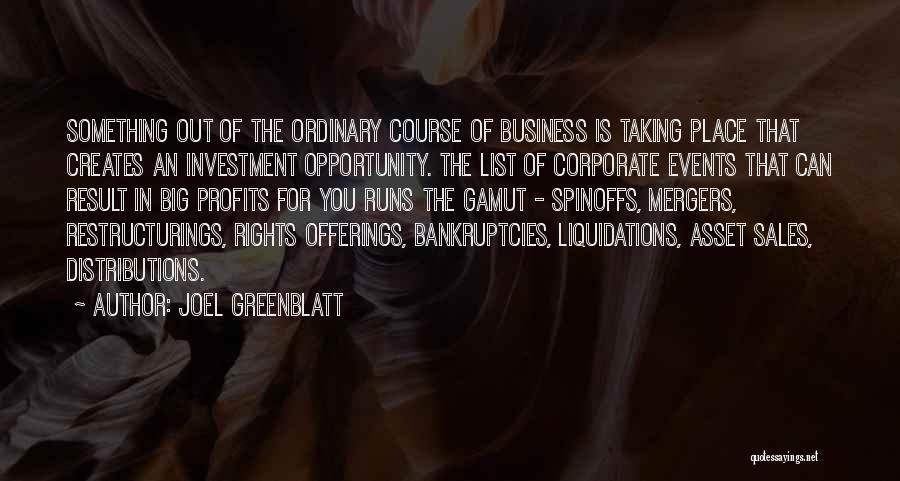 Offerings Quotes By Joel Greenblatt
